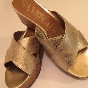 Metallic Sandals Sam & Libby